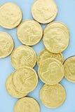 Monete di oro del cioccolato Fotografia Stock Libera da Diritti