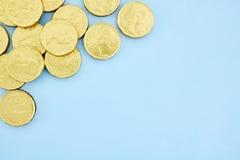 Monete di oro del cioccolato Immagini Stock Libere da Diritti