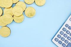 Monete di oro del cioccolato Immagine Stock Libera da Diritti