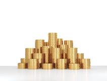 Monete di oro del mucchio Fotografia Stock Libera da Diritti