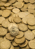 Monete di oro della Nuova Zelanda fotografia stock