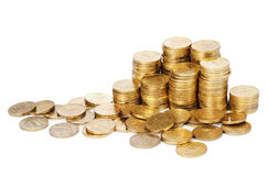 Monete di oro di riserva Immagini Stock Libere da Diritti