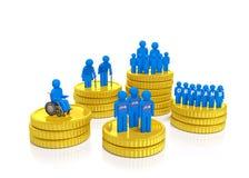 Monete di sicurezza sociale Fotografia Stock