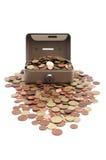 Monete di straripamento sicure Fotografia Stock Libera da Diritti