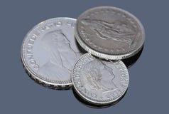 Monete di Swizerland su un fondo scuro Immagine Stock Libera da Diritti
