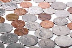 Monete di U.S.A. Fotografie Stock