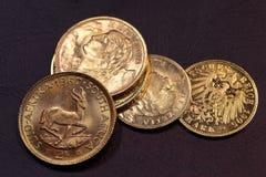 Monete di vecchio oro Immagini Stock