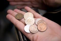 Monete di Yen immagini stock libere da diritti