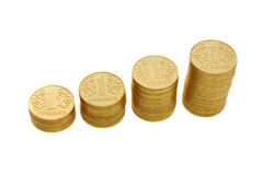 Monete dorate Fotografia Stock