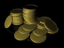 Monete dorate Fotografia Stock Libera da Diritti