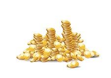 Monete dorate illustrazione vettoriale