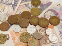 Monete e note ceche della corona Immagine Stock Libera da Diritti