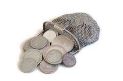 Monete e raccoglitore della moneta Fotografia Stock Libera da Diritti