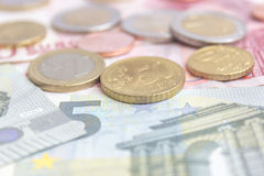 monete e soldi Fotografia Stock Libera da Diritti