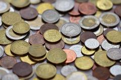 Monete EUR e PLN Fotografie Stock
