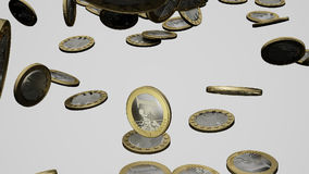 Monete euro di caduta archivi video