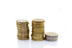 Monete europee Fotografie Stock