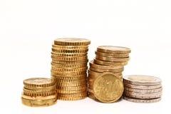 Monete europee Fotografia Stock