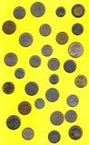 Monete europee prima dell'euro Fotografia Stock Libera da Diritti