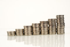Monete - finanza Fotografia Stock Libera da Diritti
