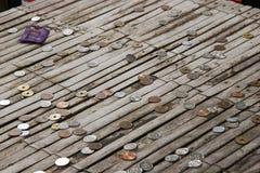 Monete giapponesi Fotografie Stock
