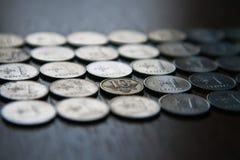 Monete lituane Fotografia Stock