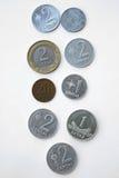 Monete lituane Immagini Stock