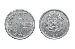 Monete Lussemburgo 25 centesimi Immagine Stock Libera da Diritti