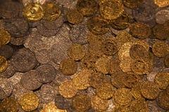 Monete medioevali Fotografia Stock Libera da Diritti
