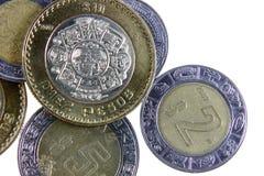 Monete messicane Fotografia Stock Libera da Diritti