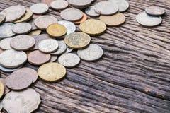 Monete miste internazionali Fotografia Stock