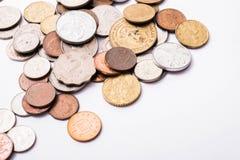Monete miste internazionali Immagini Stock