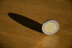 Monete nell'equilibrio Fotografie Stock