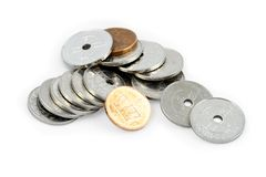 Monete norvegesi Immagine Stock Libera da Diritti