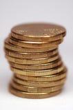 Monete in pila Fotografia Stock