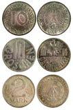 Monete rare dell'annata della Germania Fotografia Stock