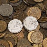 Monete russe, rubli Fotografie Stock