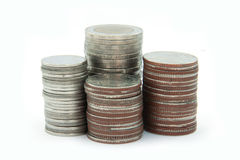 Monete tailandesi Immagini Stock