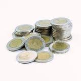 Monete tailandesi Fotografia Stock