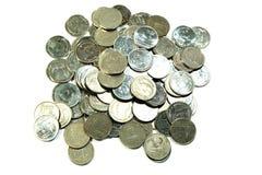Monete tailandesi del bagno immagine stock