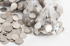 Monete tailandesi di baht Immagine Stock