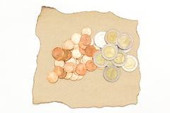 Monete tailandesi di baht Fotografie Stock Libere da Diritti