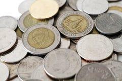 Monete tailandesi di baht Immagine Stock Libera da Diritti