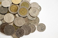 Monete tailandesi di baht Immagini Stock Libere da Diritti