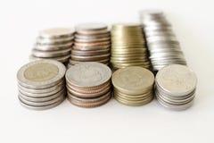Monete tailandesi di baht Fotografia Stock