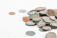 Monete tailandesi sporche Fotografia Stock Libera da Diritti