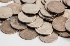 Monete tailandesi sporche Fotografia Stock