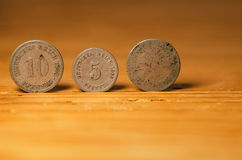 Monete tedesche immagine stock libera da diritti