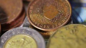Monete UE video d archivio
