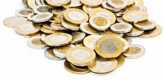 Monete ungheresi della forint Fotografie Stock Libere da Diritti